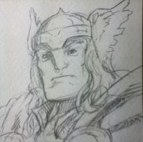 Thor sketchcard by mistermuck