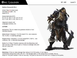 DnD-Next-Monster Cards-Orc Leader by dizman