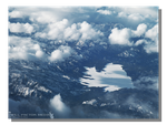 Frozen Lake Aerial View by WillFactorMedia