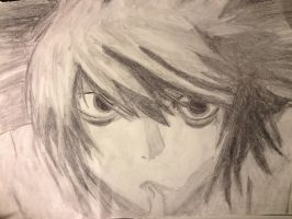 L from Death Note by ZalphaNekoChan