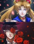 Sailor Moon and Tuxedo Mask by darkshia