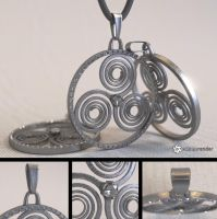 Free Celtic Amulet Model (Triskele) by LuxXeon