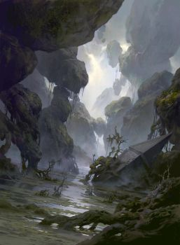 Magic the Gathering Basic Lands Swamp by FLOWERZZXU
