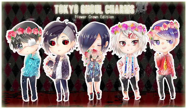 Tokyo Ghoul: Flower Crowns by enzouke