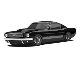 1966 Ford Mustang Fastback by matt-chops