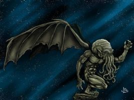 Cthulhu COLOR - variant by JeremiahLambertArt