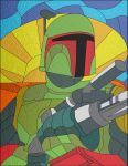 Boba Fett in Stained Glass by jmascia