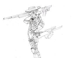 sniper assassin inked by DeathRage22