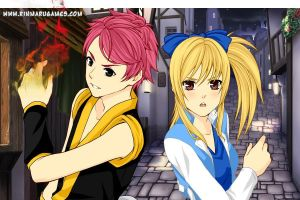 Natsu and Lucy by Hearthorrors