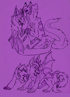 Dragon sketches by Cremsie