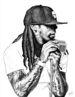 LIL WAYNE by face-art
