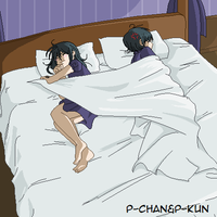 The problem of sleeping in one bed in two by P-ChanAndP-Kun