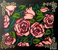 Pink Roses by MelsPapercuts