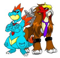feraligatr'n'entei by GothicIchigo