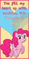 Pinkie Pie Valentine Card by Kurenai-Hio