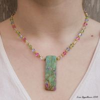 Ruby in Fuchsite in Spring by Cillana