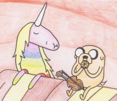 Jake and Lady Rainicorn by sophiemai