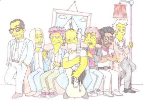 Homer and The Rolling Stones by SupaSmashSketcher