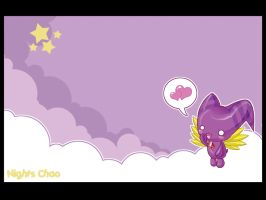 -- NiGHTS chao wallpaper -- by mazokups
