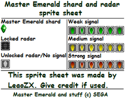 Master Emerald shard and radar by LeaoZX