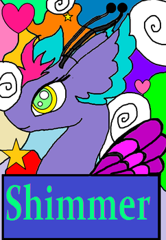 Shimmer Trading Card by rosefang16
