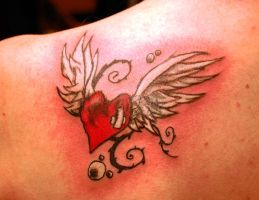 Cover Up Heart with wings by WikkedOne