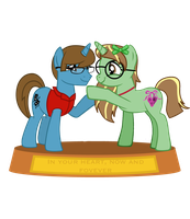 Thespio and Evergreen Statue by finnthepony17
