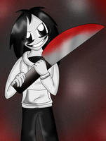Jeff The Killer :background: by roxiuuu