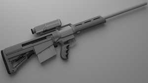 Sci Fi Sniper rifle (1/2) by Jo-weee