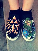 The Legend of Zelda Shoes by MonteyRoo