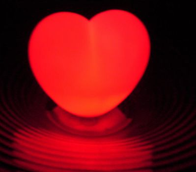 Heart made by glass by dikensiz