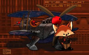 Fox Stirling and his aircraft by Pendragon1951