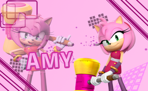 Sonic Boom Wallpaper(Amy V3) by Millerwireless
