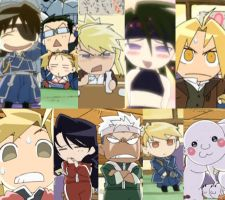 FMA OVA Chibi Party Characters by Puffypaw