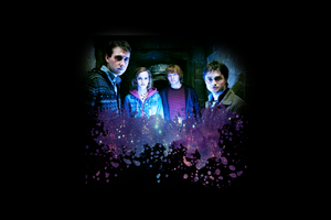 Harry, Ron, Hermione, and Neville Wallpaper by Grace-like-rainx