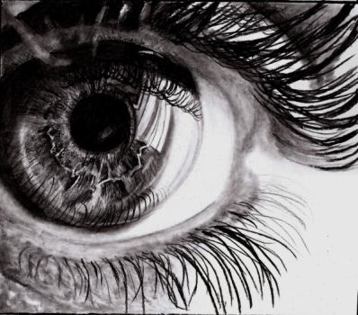 detail eyes drawing by SansKorn