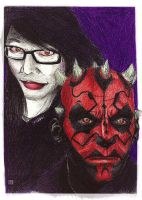 IveInBox and Darth Maul by rikinhukuma