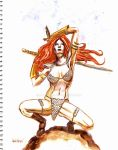 Red Sonja warrior by m-a-c-h-o