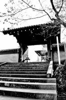 Entrance to the Sengakuji Temple, 47 ronin by kaitou-ace