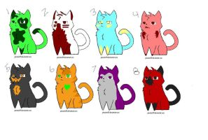 Free cat adopts by YukiBlueWho