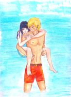 NaruHina- to the Beach one more time. by Yuzuky