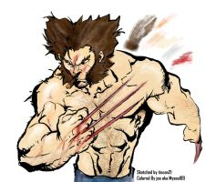 Wolverine by tincan21 colored by mysoul89