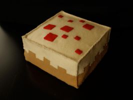 Minecraft Cake Plush by alicetwasbrillig