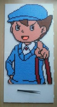 Luke (Professor Layton) Hama Beads by De-Lau