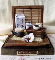 Antique Oriental herbal medicine by dollhouseara