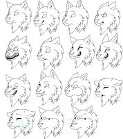 Wolf Avi expressions by KitsuneRedWolf