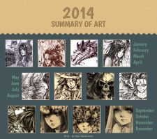 Summary of art 2014 by flycatcher263