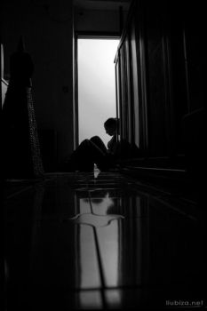Lonely way thinking by ljubica