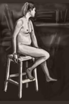Nude girl sitting by aDFP
