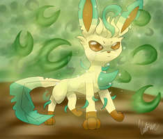 Leafeon by TheEpicWingedWolf